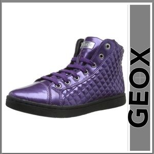 GEOX CREAMY QUILTED PURPLE FASHION SNEAKERS